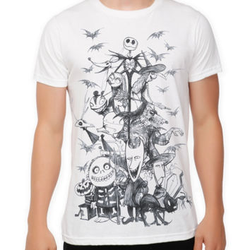 The Nightmare Before Christmas Sketch T-Shirt