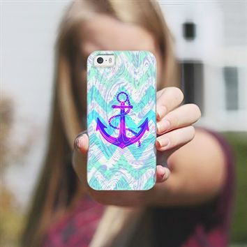 Purple Anchor iPhone 5s case by Orna Artzi | Casetify