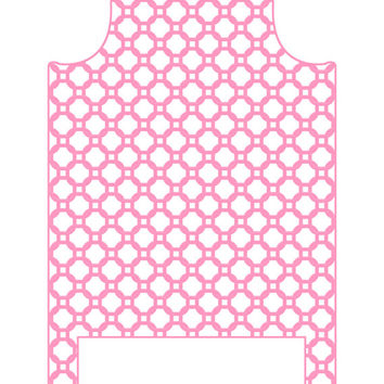 Wall Decal Headboard - Chain Link - Pink - Twin