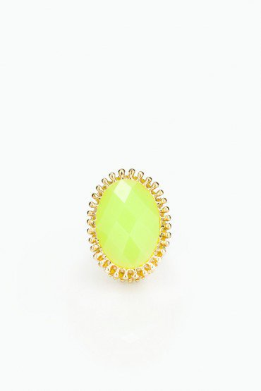 Summer Lemon Cocktail Ring - ShopSosie.com