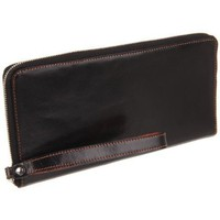 Tusk Capri Zip Travel Portfolio PW-166 Wallet,Black/Orange,One Size