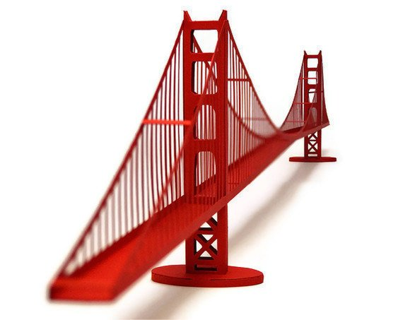 Golden Gate Bridge Paper Model (KIT)