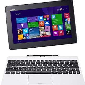 """ASUS Transformer Book T100TA-C1-WH(S) 10.1"""" Detachable 2-in-1 Touchscreen Laptop, 64GB (White)"""