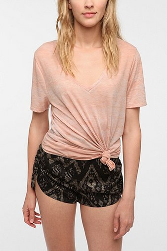 BDG Sheer Burnout V-Neck Tee