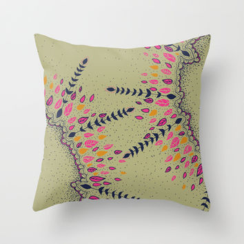 Leaf Love  Throw Pillow by rskinner1122