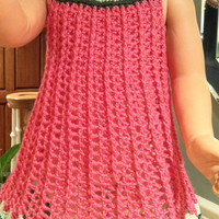 Baby Girl Dress or Top Swing Style, Watermelon Colors, Crochet Pattern PDF 12-054