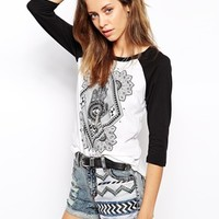 Lira Hamsa Raglan Long Sleeve Top
