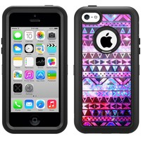 Otterbox Defender Nebula Black Aztec Galaxy Case for Apple iPhone 5C