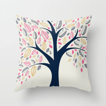 Tree     Throw Pillow by rskinner1122
