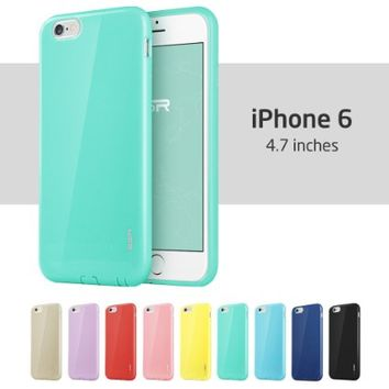 iPhone 6 Case, ESR Yippee Color Series Protective Case Bumper [Shock Absorbent] [Ultra Thin [Light Weight] ] [Scratch-Resistant] [Perfect Fit] Soft TPU Back Cover for 4.7 inches iPhone 6 (Mint Green)