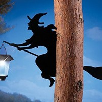 Witch Shadow Tree Solar Lantern Halloween Decoration