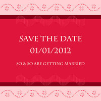 Save The Date - Strawberry Wedding Card Design - Printable File