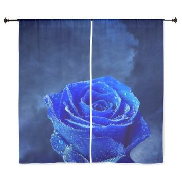 "Blue Roses 60"" Curtains"