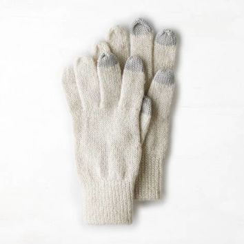 AEO SHIMMER KNIT GLOVES