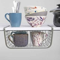 Over-The-Shelf Storage Basket - Silver One