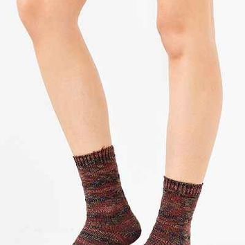 Multi Stitch Pattern Crew Sock - Urban Outfitters