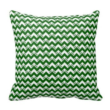2015 Grad Chevron Pillow, Green-white