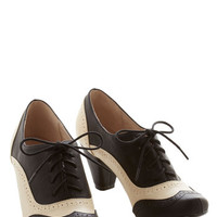 Chelsea Crew Menswear Inspired Cause for Collaboration Heel in Monochrome