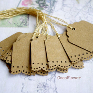 10 Little Gift tag kraft label set