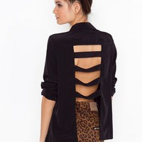 Caged Back Blazer