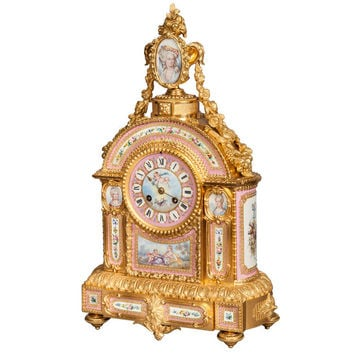 A Mantlepiece Clock in the Louis XVI Manner, Retailed by E & S Watson of London