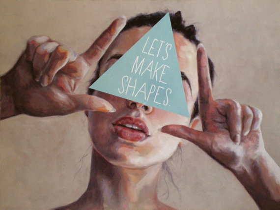 Framed print - 'Let's Make Shapes' by Little Lost Soul