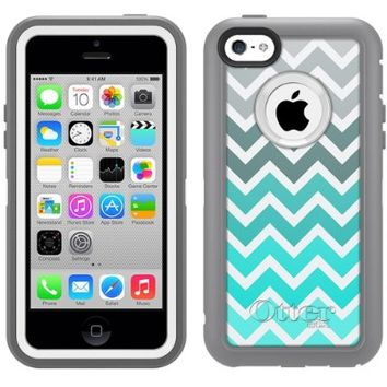 Otterbox Defender Chevron Grey Green Turquoise Pattern Case for Apple iPhone 5C