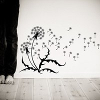Wall decal Dandelions seeds blowing in the wind by CherryWalls