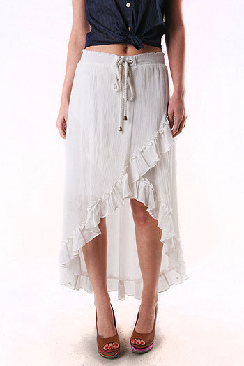 Rumple Wrap Skirt - Assymetric Skirts at Pinkice.com
