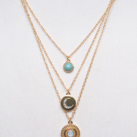 Lunar Gypsy Layered Necklace | Wet Seal