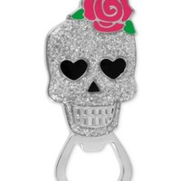 Betsey Johnson Silver-Tone Skull and Flower Bottle Opener - Fashion Jewelry - Jewelry & Watches - Macy's