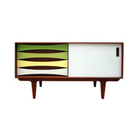 Cool Colors Teak Media Console