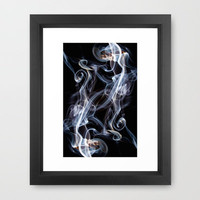 Abstract Smoke Photography.26 Framed Art Print by Louise Wagstaff | Society6