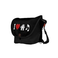 I Love House Music Commuter Bags from Zazzle.com