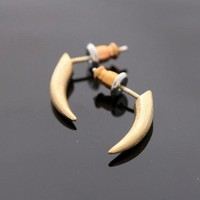 PIERCING stud earrings in gold by bythecoco on Zibbet