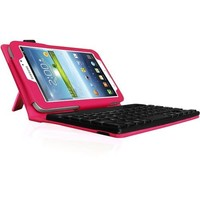 Fintie - Folio Key Bluetooth Keyboard Case Cover for Samsung Galaxy Tab 3 7.0 inch Tablet - Magenta - Magenta
