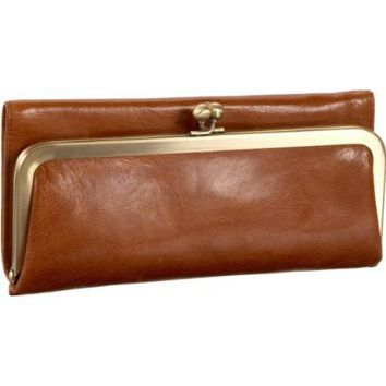 HOBO INTERNATIONAL Rachel Wallet,Caramel,One Size