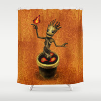 Groot Shower Curtain by Anna Shell