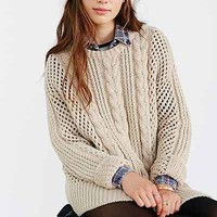 Gat Rimon Maiti Cable-Knit Sweater- Neutral