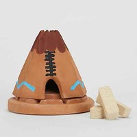Pinon Incense Ceramic Holder Set- Green One