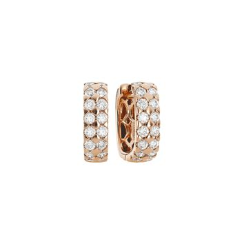 Mercer 18k Rose Gold and Diamond Hoop Earrings