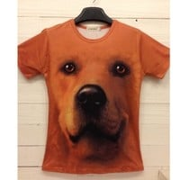 MEN AND WOMENS DOG PRINT T-SHIRT