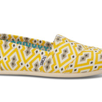 Bright Yellow Jonathan Adler for TOMS Women's Classics