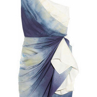 Alice + Olivia | Bree tie-dye silk one-shoulder dress | NET-A-PORTER.COM