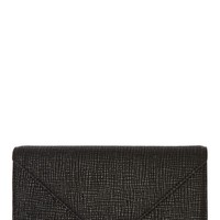 Alexander Wang Black Embossed Leather Prisma Envelope Clutch