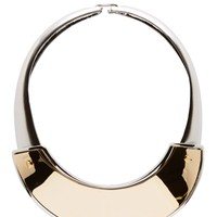 Marni Old Gold And Silver Metal Short Necklace
