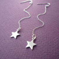 sterling star dust earrings