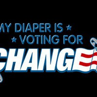 T-Shirt Hell :: Baby Shirts :: MY DIAPER IS VOTING FOR CHANGE