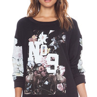 Wildfox Couture England College Pullover in Black