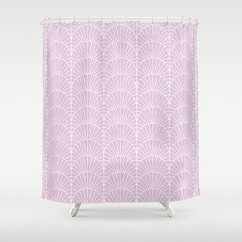 Art Deco Lavender Fields by Friztin Shower Curtain by friztin